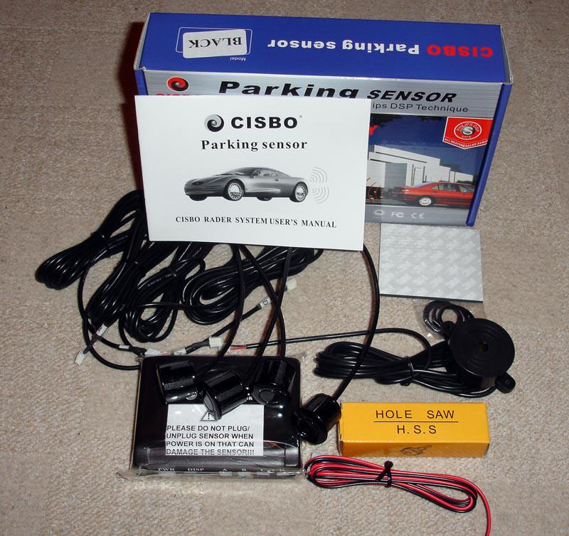 BLACK UK QUALITY Reversing【 Parking Sensor】 4 Sensors Audio Buzzer /& LED
